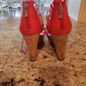 Ivanka Trump Shoes - Red Platform Wedges